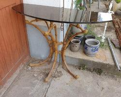 Salon de jardin imitation bambou