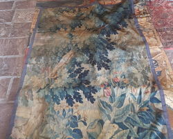 19th tapestry floral decorations