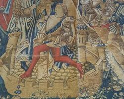 19th medieval scene tapestry