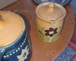 2 Alsatian terracotta pots 19th  great condition