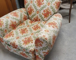 Mustache club chair end of the 1950s in fabric