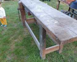 Old carpenter's workbench