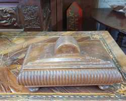 Art deco walnut jewelry box