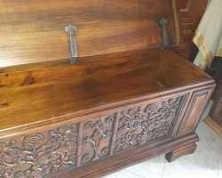 Walnut chest at the end of the 19th