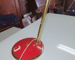 Red metal 70s child desk lamp