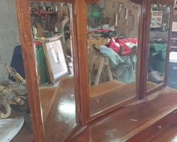 Louis XVI-style hairdresser in mahogany