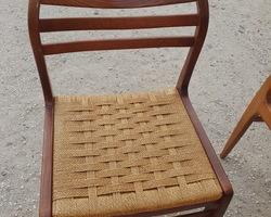 Suite de 6 chaises scandinave Niels O Moller des années 60