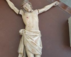 Large polychrome 19th century Christ