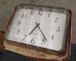Wall clock in the offices of a 1970s Bodet factory  in a perfect state