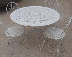 1950/1970 metal garden furniture