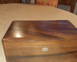Walnut rectangular box at the end of 19th