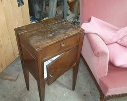 1 period bedside oak board