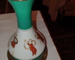 grande lampe a pétrole 19eme a décors de scènes antique