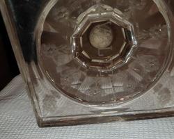 Exceptionnelle paire de vases empire en cristal