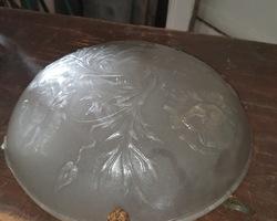 pressed glass chandelier circa 1930