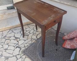Petite table chêne et noyer19ème