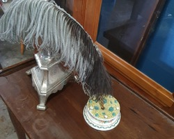 late 19th-century feather holder in earthenware