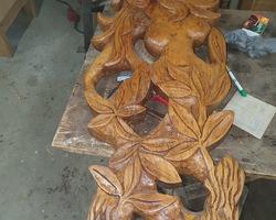 Sculpture chêne contemporaine
