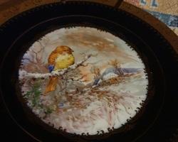 2 assiettes décoratives en limoges des années 1930
