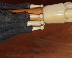 parapluie avec pommeau en ivoire art déco