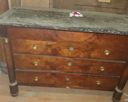 dresser walnut empire era