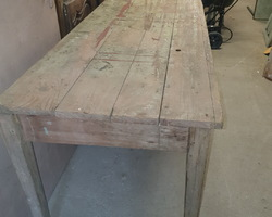 Lot of fir tables from an old school refectory