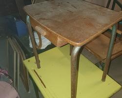 2 old school tables for kindergarten