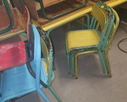 Tube chairs for kindergarten around 1960