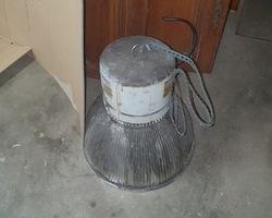 9 lampadaires d'usine des années 70