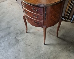 Pair of half-moon dresser from the 1920s richly marked