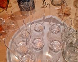 8 large DAUM NANCY crystal glass 1970s