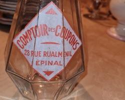 Advertising carafe counters EPINAL coupons