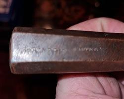 Bronze stamp