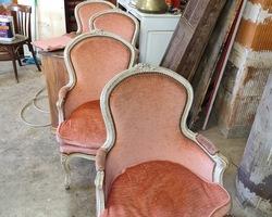 Suite de 4 fauteuils louis XVI