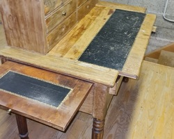 Louis Philippe desk with mahogany tiers