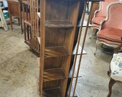 Early 20th century mahogany revolving library