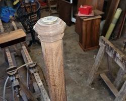 mahogany art deco lamp