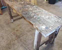 Former workshop workbench wooden