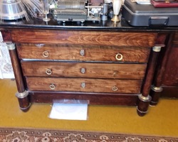 Chest of drawers empire over wood