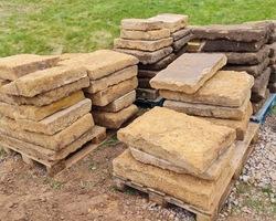 12 mètres carré de dalles en grès