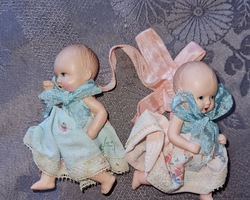 Pair of celluloid bathers from the 1920s/1940s