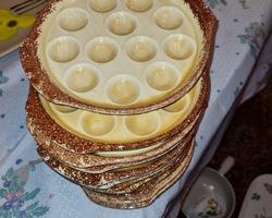 6 snail plates in Gien