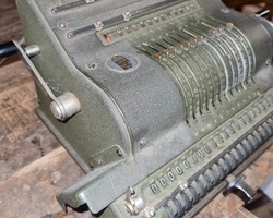 Old calculating machine BRUNSVIGA Resembling a typewriter
