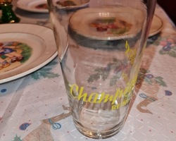 Beer glass of Champigneulles (the queen of beers) of the 50s