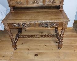 Henry II office with finely carved oak bleacher