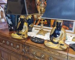 Paire de lampe Bouddha de La maison Charles à Paris