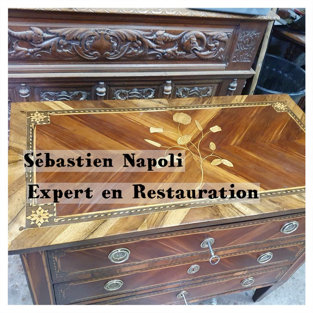 Both reversibility and the preservation of authenticity are two concepts that Sébastien Napoli is aware of during Restoration of Furniture of Antan